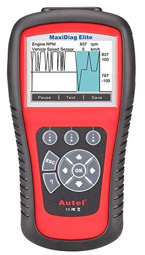 Autel MD802FULL Maxidiag Elite MD802 Herramienta de Diagnóstico Completo Multimarca (Motor, Transmisión, ABS, Airbag con Reset Servicios Aceite y Frenos)