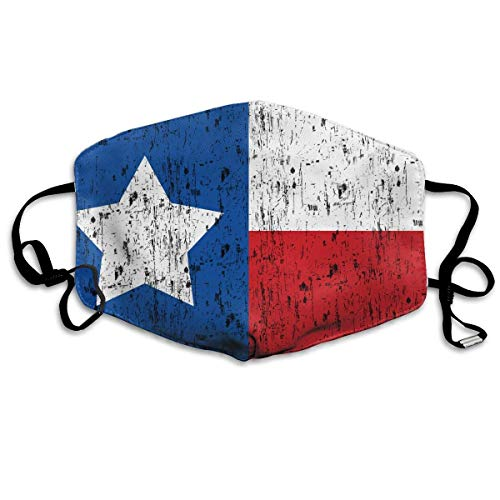 ne, Mouth Mask, Breathable Mask Anti Dust, Distressed Texas Flag Unisex Dust Allergy Flu Masks Cover Warm Respirator Germ Protective Breath Breath Healthy Safety Mouth Masks ()