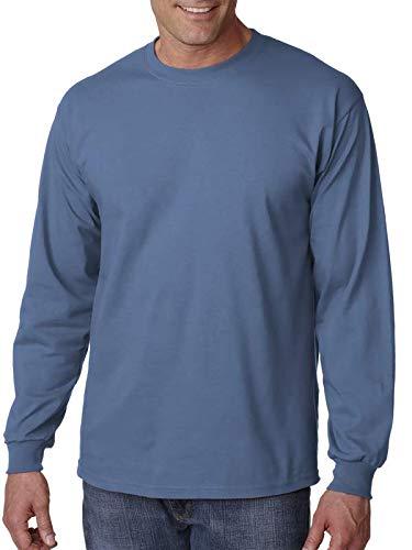 Gildan Ultra Cotton 6 oz. Long-Sleeve T-Shirt, 5XL, INDIGO BLUE - Indigo Blue Bekleidung