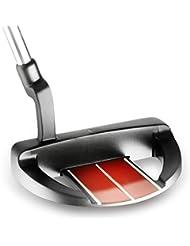 Medida Bionik 504 negro/rojo putter diestros 88,9 cm estándar agarre sin funda (Seleccione la longitud y el tamaño de la empuñadura), Right