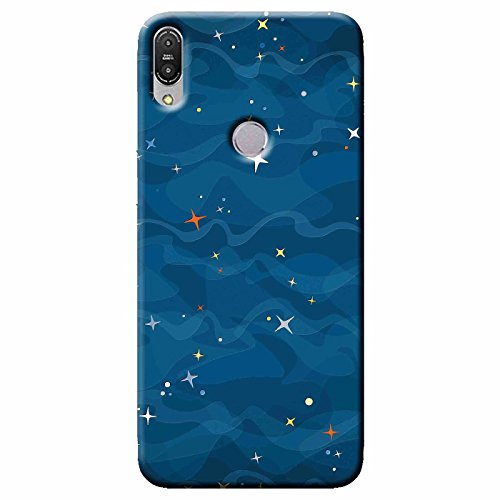 SHAIVYA Bluish Night of Stars Silicone Rubber Finished TPU Printed Back case Cover for Asus Zenfone Max Pro (M1) ZB601KL