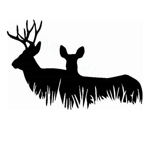Jagd Aufkleber Auto Jagd Schießen Buck Hind Hunter Shop Poster Vinyl Wandtattoos Dekor Chase Wandbild Aufkleber weiß 80x120cm -