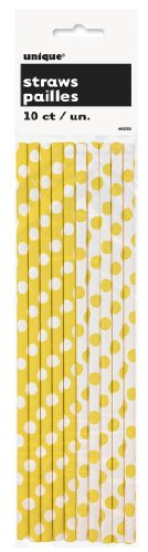 polka-yellow-straws-10pk
