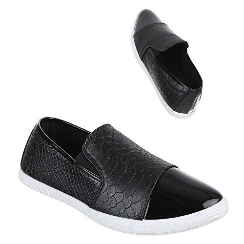 Slipper Damen Halbschuhe X 22 Trendige Schuhe Schwarz xCCvqAX