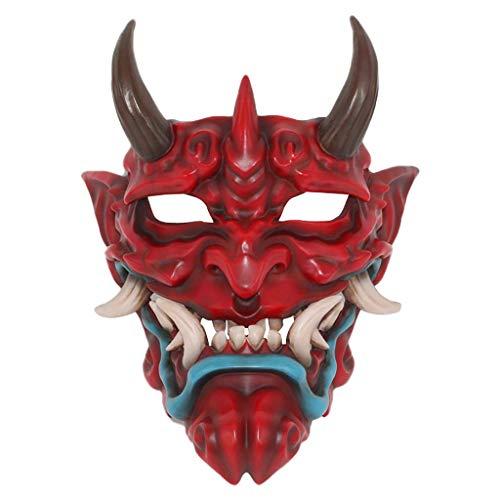 Kinder Kostüm Buch Figur - Lazzboy Japanische Prajna Halloween-Masken-Kleidungs-Sammlungs-Wand-hängende Maske(Rot)