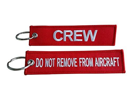 Tripulación etiqueta para equipaje/No quitar de aviones/alta calidad