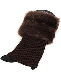 Aawsome - Calcetines de invierno para mujer, cálidos, de ganchillo, con corte de