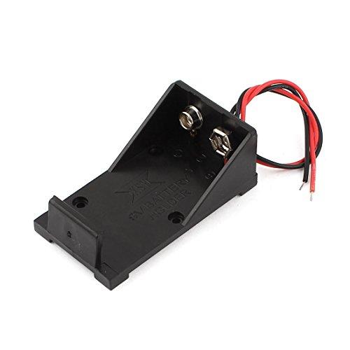 Sourcingmap Plastique Noir Piles Coque pour 1 x 9V Batterie w Fils Conducteurs