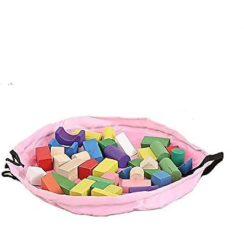 Portátil juguete organizador bolsa de almacenamiento de juguete y rápida funda