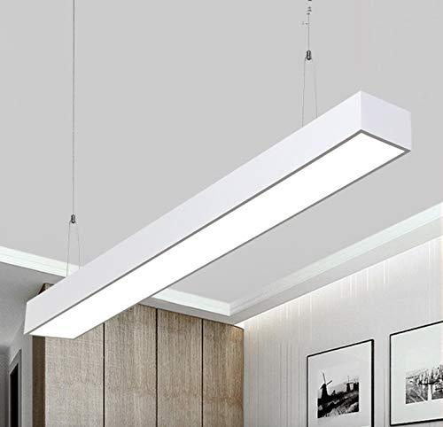 24W Lampada a sospensione LED Di Alluminio e Ferro LED 2700LM- 120cm 6000K plafoniera, illuminazione a soffitto, illuminazione per salotto, per cucina, per sala da pranzo, per soggiorno Bianco