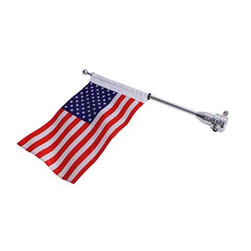 Motorrad Flagge Fahnenmast mit American USA Flagge für Honda Goldwing CB VTX CBRYamaha Harley - Motorrad Honda Fahne