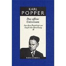 Gesammelte Werke: Band 8: Das offene Universum (Karl R. Popper-Gesammelte Werke)