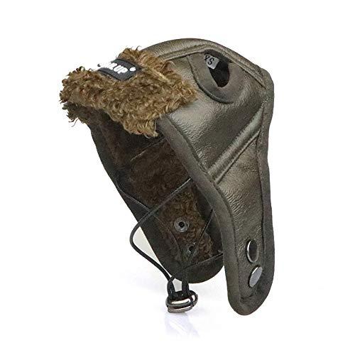 NashaFeiLi Pilotenhut, Retro-Hund, Fliegermütze mit Ohrlöchern, kaltes Wetter für Chihuahua, Welpen, Yorkshire und kleine mittelgroße große Hunde (Yorkshire Welpen)