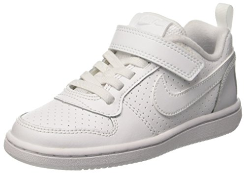 Nike Court Borough Low (Psv), Chaussures de Basketball garçon, Bianco (White/White), 35 EU