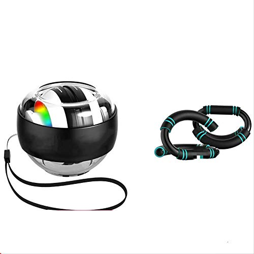 Unbekannt Handballen, Modelle Gyroskope - Handgelenk stark, Griff Siator, Griff Sion Ball Gyro GyroSkope Blendende Handgelenkskugel und S-Artige Push-ups (üben muskelartiges Herrenpaket)