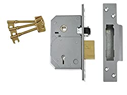 Union Locks 3k74e 5-lever Mortice Rollerbolt Sash Lock C-series 67mm Case - Brass