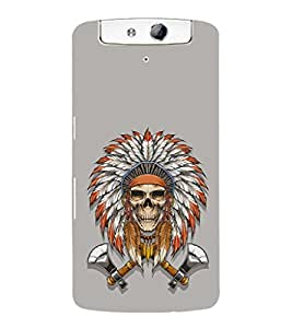 EPICCASE Skull Axe Indian Mobile Back Case Cover For OPPO N1 (Designer Case)