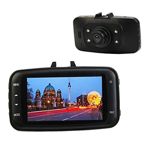 Esden - videocamera per auto full hd 1080p, dvr, hdmi, con sensore g, 7 cm, gs8000l