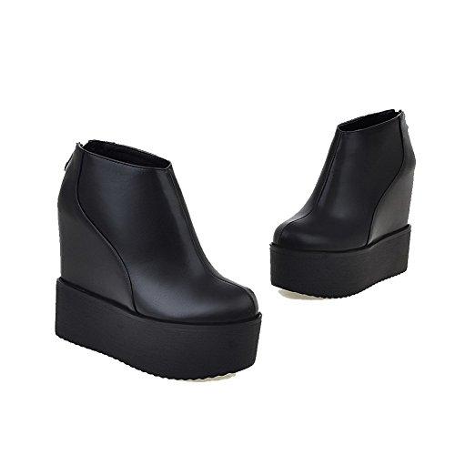 Tallone Colore Nero Caviglia Agoolar Solido Misti Moglie Stivali Zip Materiale rxnrCFIvwq