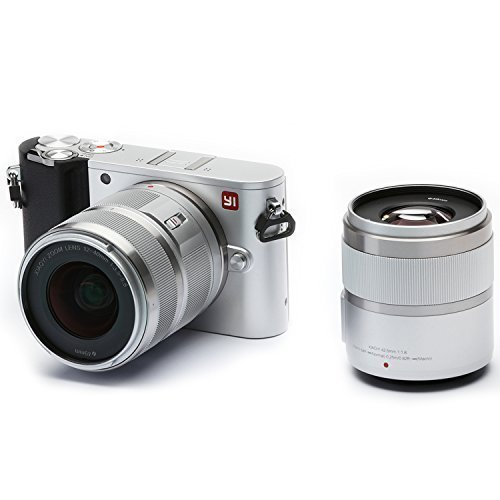 YI M1 4K Video 20 MP Mirrorless Digital Camera with 12-40mm F3.5-5.6 Lens / 42.5mm F1.8 Lens Ice Silver(US Edition)