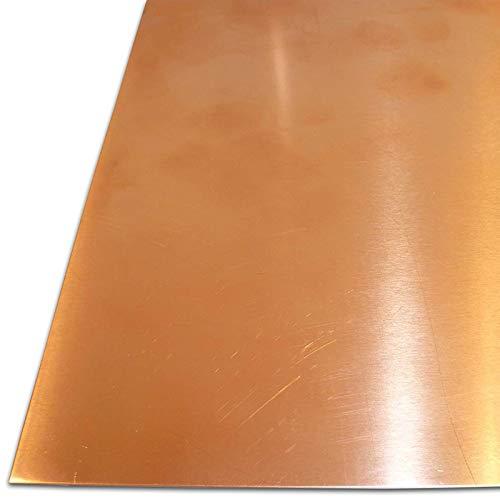 B&T Metall Kupferblech 0,5 mm stark Qualität nach DIN EN 1172 CUI-DHP-CW024A R240 halbhart (SF-Cu) bis Größe 200 x 300 mm (20 x 30 cm)
