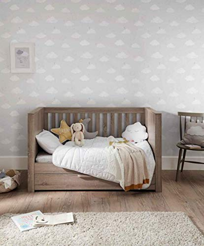Mamas & Papas Franklin Cot/Toddler Bed Grey Wash Mamas & Papas SAVE £49 - compared to buying items individually COT BED – The 3-in-1 cot bed has 2 base positions and converts into a toddler bed and day bed to grow with your child and there's a handy draw for extra storage. DRESSER CHANGER – Provides you all of your nursery storage needs with 3 soft close draws giving you plenty of space. 5