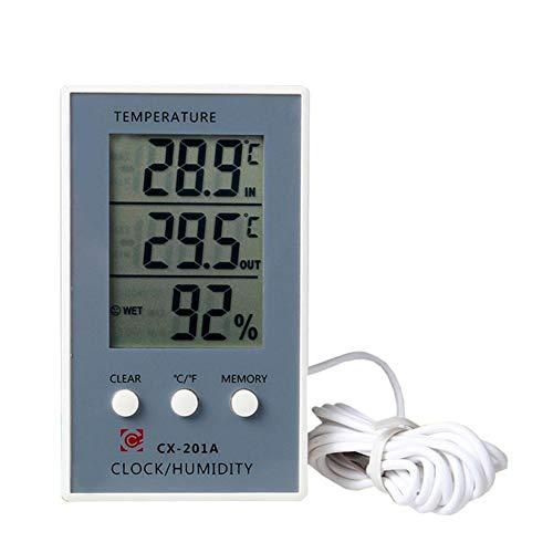 Cosy-TT Digitaler Hygrometer Thermometer Indoor Outdoor Temperatur- und Feuchtigkeitsmonitor, Hohe Stabilität und Präzision, Große LCD-Anzeige