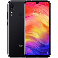 Xiaomi Redmi Note 7 Smartphones de 6.3'' Fullscreen, 4GB RAM + 64GB ROM, Snapdragon 660 Octa-core processor, 13MP Front and 48MP + 5Double MP Rear Camera Mobile Phones (Negro)