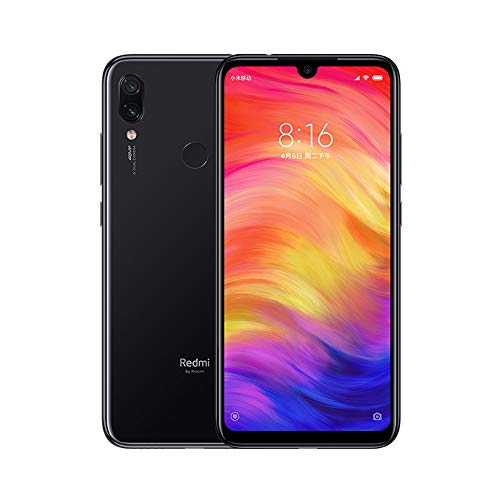 Xiaomi Redmi Note 7 Smartphones de 6.3'' Fullscreen, 4GB RAM + 128GB ROM, Snapdragon 660 Octa-core processor, 13MP Front and 48MP + 5Double MP Rear Camera Mobile Phones (Negro)
