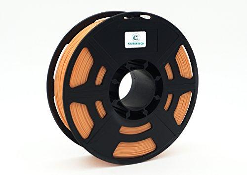 Kaisertech Filament für 3D Drucker 1kg PLA 3,00mm Hautfarbe/Skin - Premium Qualität Spule Rolle