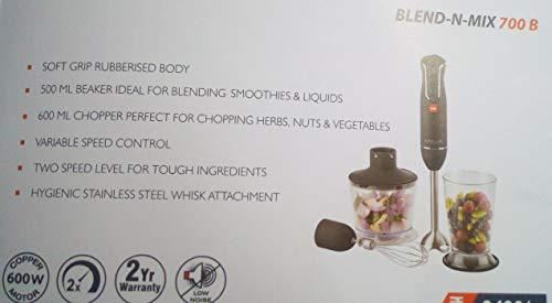 Cello Blend-N-Mix BNM-700B 600-Watt Hand Blender (Black)