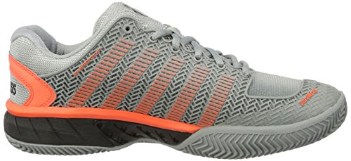 K-Swiss Performance Hypercourt Express Hb, Chaussures de Tennis Homme Gris (Highrise/black/neon Blaze 072)