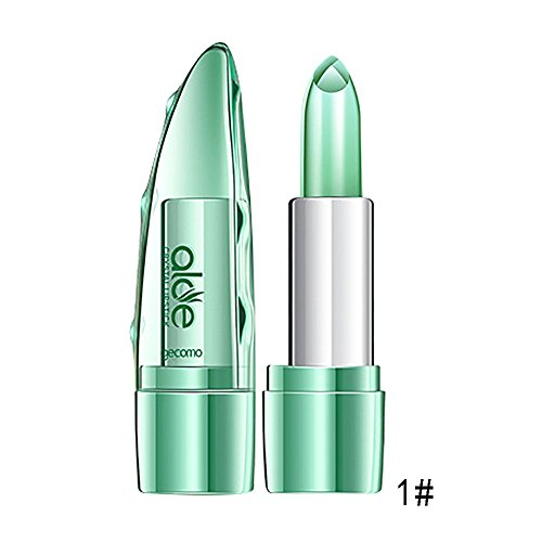 Farbwechsel Lipgloss, Bio-Aloe Vera-Gelee-Lippenstift-Farbtemperatur-Feuchtigkeitslippe Lippen MCYs