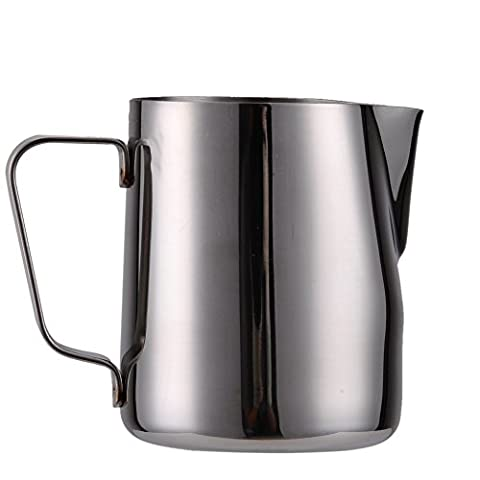 Milk Frothing Pitcher Jug, Stainless Steel Pitchers Cup for Barista Cappuccino Espresso Coffee Latte Maker Art (300ML)