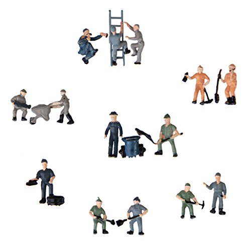 25pcs-painted-model-train-railway-workers-people-figures-with-ladder-and-bucket-mixed-style-187