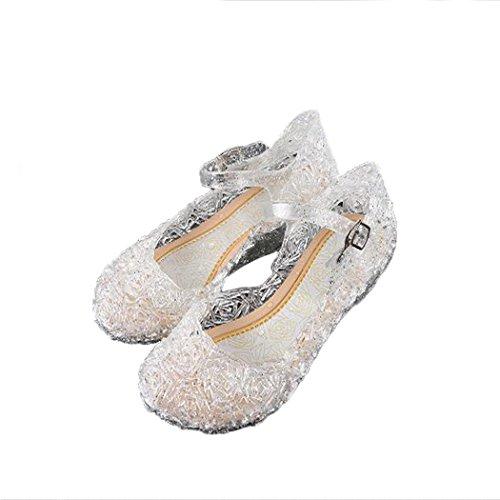 Tsingbei Prinzessin Gelee Partei Kostüm Karneval Absatz-Schuhe Sandalen Stöckelschuhe für Kinder