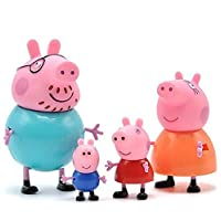 Amisha Gift Gallery Pig Family Toy , Action Figure ,Original Animated Toys for Children (Set of 4) (4 Piece)