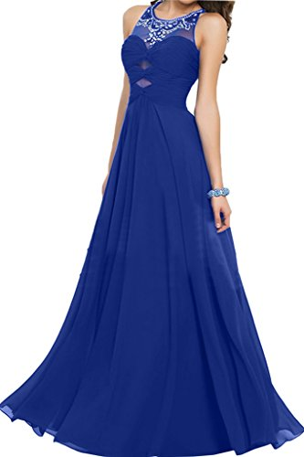 ivyd ressing Femme Tendance col rond mousseline pierres A ligne Party robe Prom Lave-vaisselle robe robe du soir bleu roi