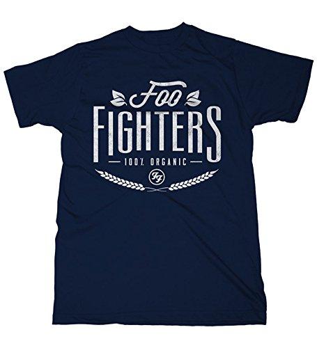 Foo fighters 100% organic t-shirt blu scuro l