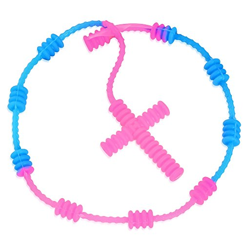 SanSardo® Fluoreszierendes Armband Kautschuk Rosenkranz Blau-Rosa Religiös Christlich 28 - Und Blau Rosenkranz Rosa