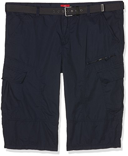 s.Oliver Big Size Herren Shorts 15705745329, Blau (Indigo 5875), 48 (Indigo Shorts Bermuda)