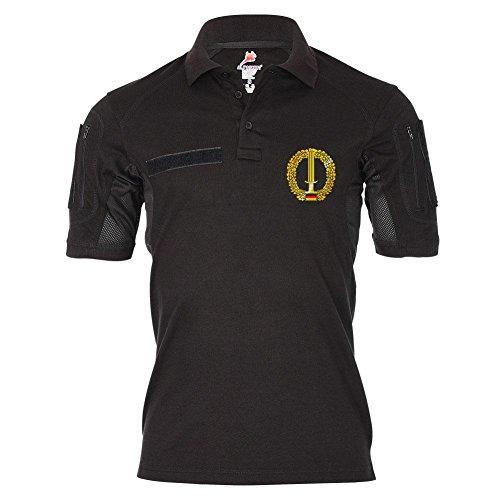 Tactical Poloshirt Alfa Barettabzeichen KSK Kommando Spezialkräfte BW Militär Emblem Deutschland Dienst Hemd Polo #19382, Größe:4XL, Farbe:Schwarz