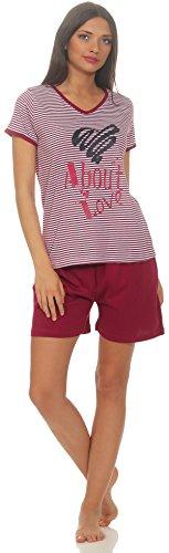 Grau Gestreift Kurz (Damen-Shorty Gr.44/46-L -grau gestreiftes Oberteil kurzer Schlafanzug schlafanzug aufdruck kurzer schlafanzug für frauen kurz kurze hose damen shorty baumwolle schlafanzug bären 100 100% bw.)
