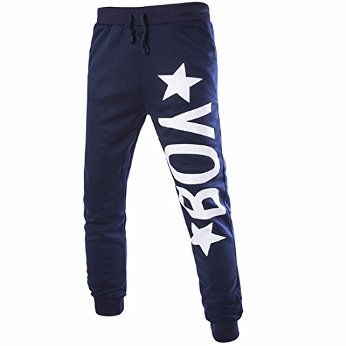 Homme Longue Décontracté Avec Emballage Pantalon Navy blue 1