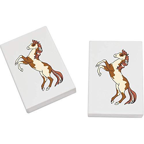 Azeeda 2 x 45mm 'Stehendes Pferd' Radiergummis (ER00020149)