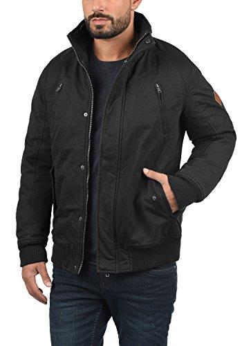 BLEND Ken Herren Winterjacke Jacke mit Stehkragen und abnehmbarer Kapuze aus 100% Baumwolle Black (70155)