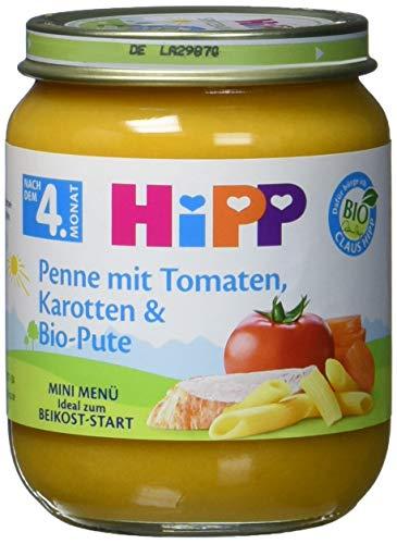 HiPP Penne mit Tomaten Karotten und Bio-Pute, 1er Pack (1 x 125 g)