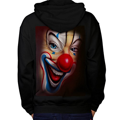 Clown Scary Creepy Horror Men M Kapuzenpullover Zurück | Wellcoda