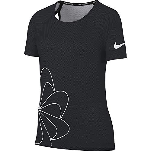 Nike Mädchen Run GX Top, Black/White, M