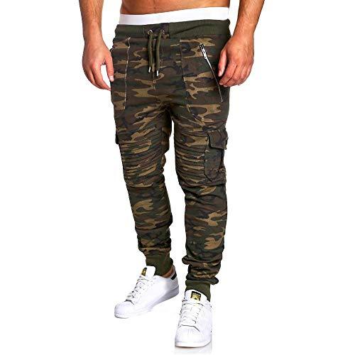 Geili Herren Sporthose Lang Sweatpants Modern Camouflage Falten Slim Fit Jogginghose Gym Fitness...